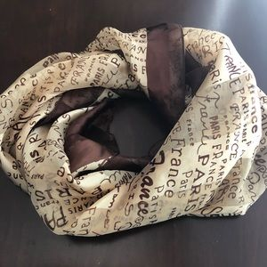 Brown light weight square wrap scarf pre-owned
